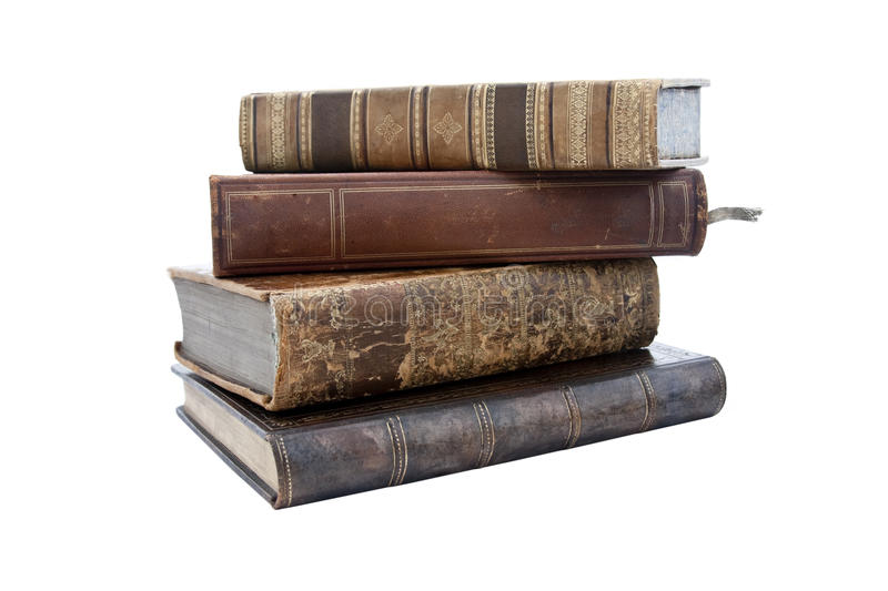 Download STACK OF OLD ANTIQUE BOOKS stock image. Image of covers - 13195219