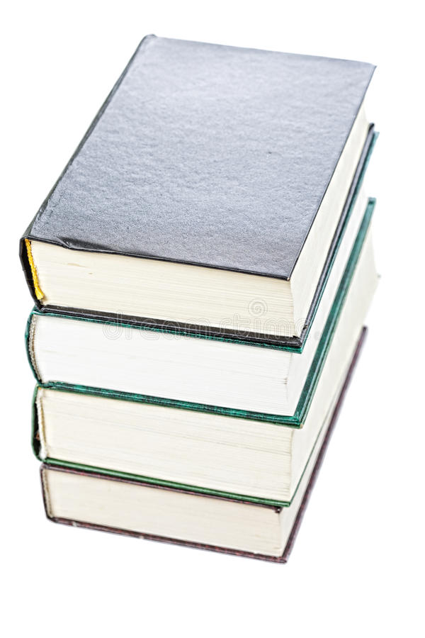 Stack of old books above view royalty free stock image
