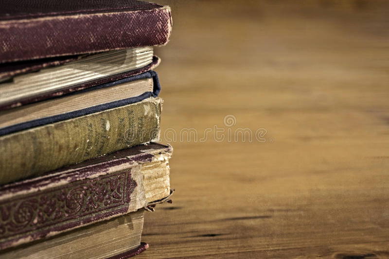 Download Stack Of Old Books With Grunge Effects Stock Image - Image: 98911677