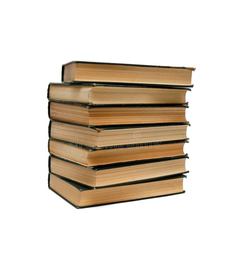 Download Stack Of Old Books Seen From Ends Isolated Stock Image - Image of isolate, paper: 11781673