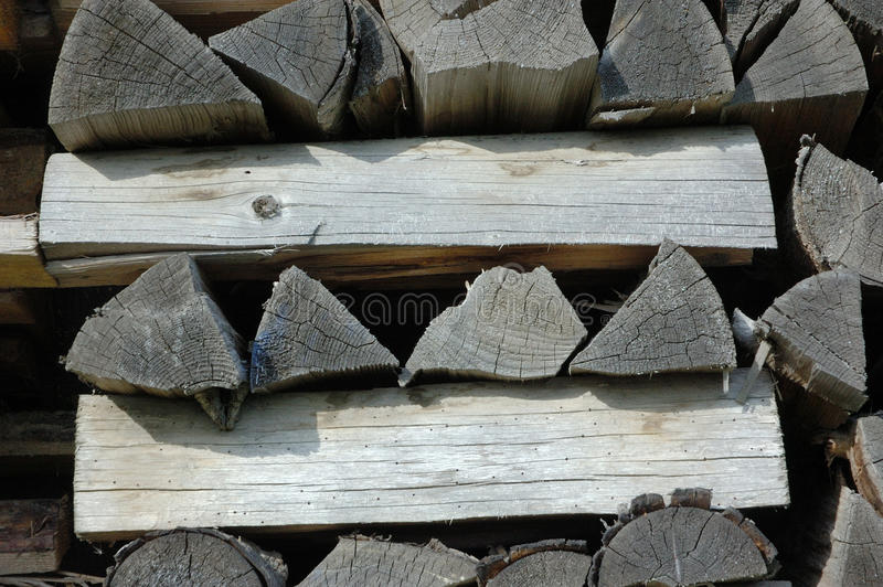 Stack Of Old Firewood Royalty Free Stock Photo