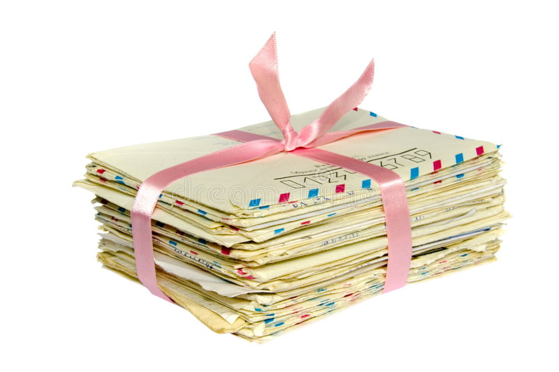 Stack Of Old Letter Bonded Wit Royalty Free Stock Photos