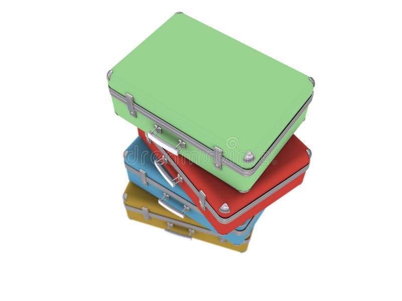 Download Stack of old luggage stock illustration. Image of aeroplane - 5793647
