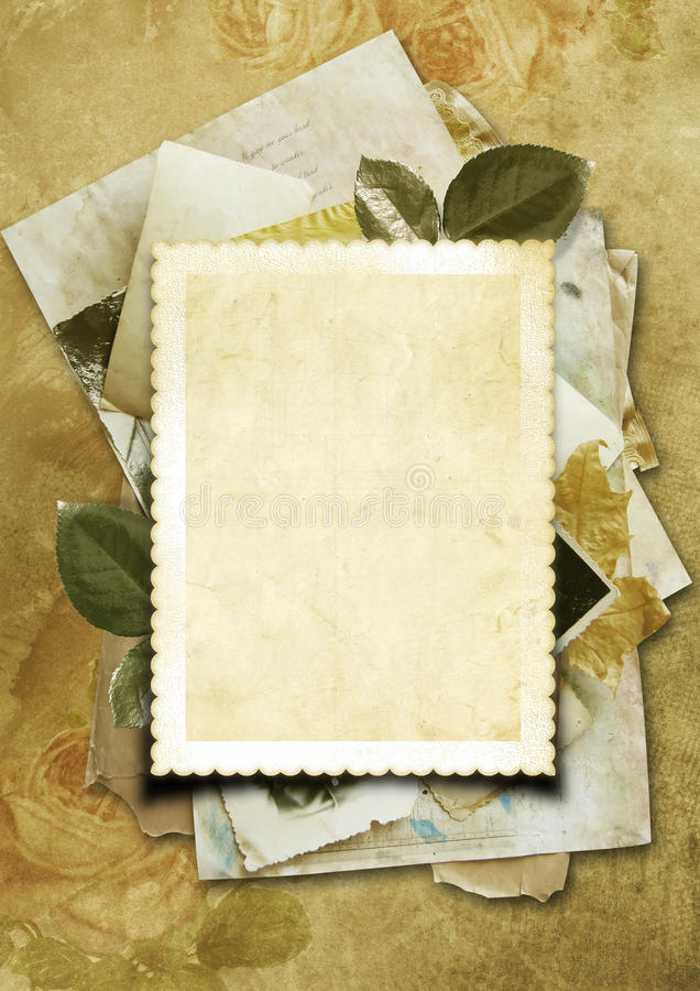 Stack of old papers as a background for your photo stock illustration