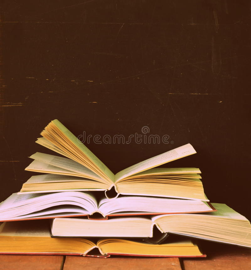 Stack of old vintage books royalty free stock photos