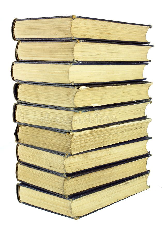 Download Stack of Old Worn Books stock image. Image of many, volumes - 2274851