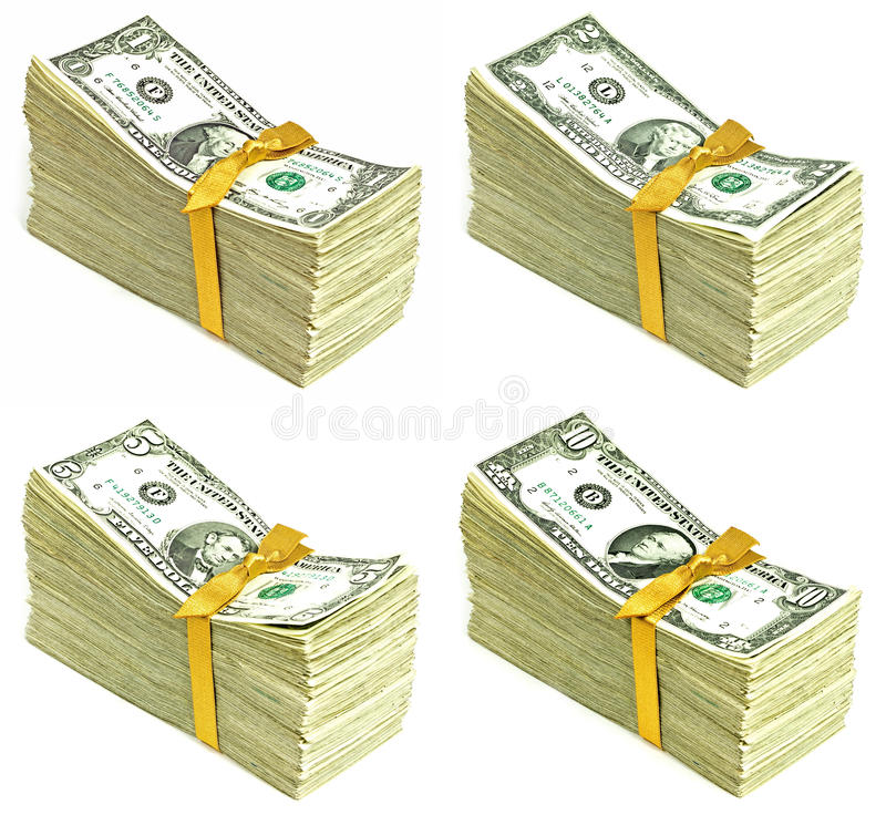 Download Stack Of Older United States Currency Stock Photo - Image: 25659872
