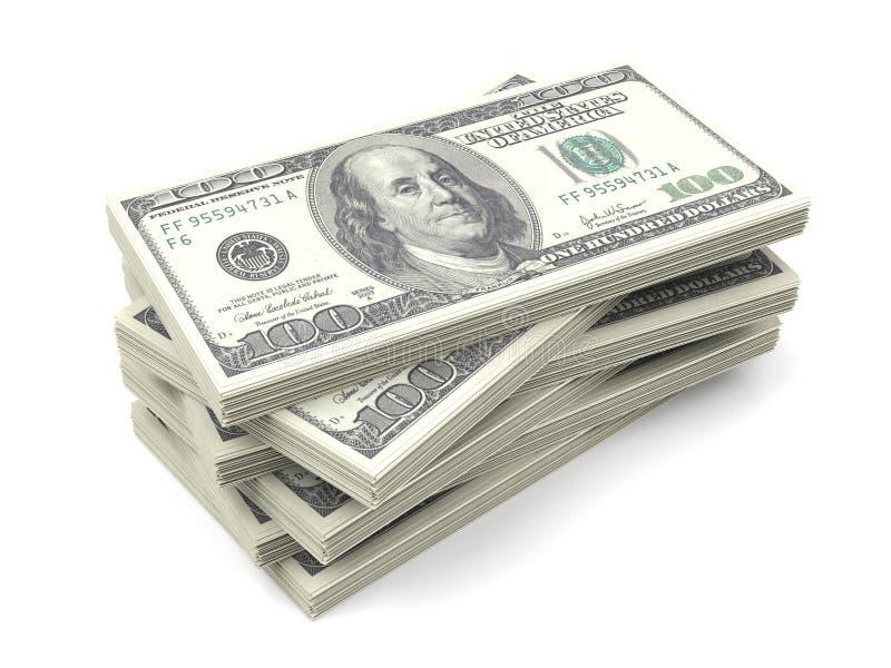 Stack Of One Hundred Dollar Bills Stock Illustration - Illustration ...