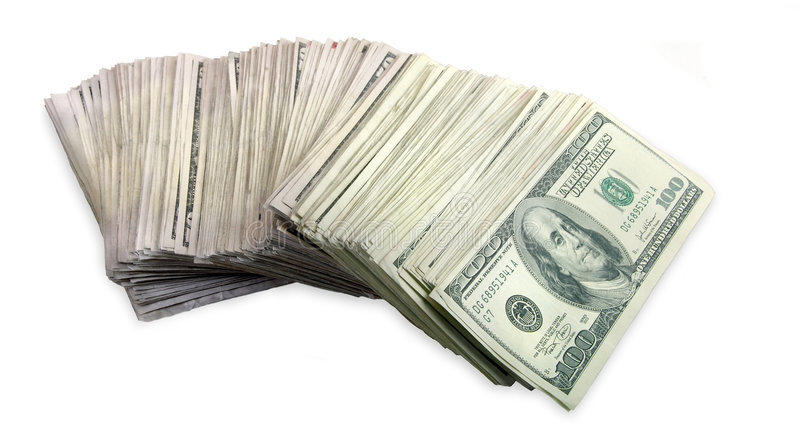 Download Stack Of One Hundred Dollar Bills Fanned Out Stock Image - Image: 8693033