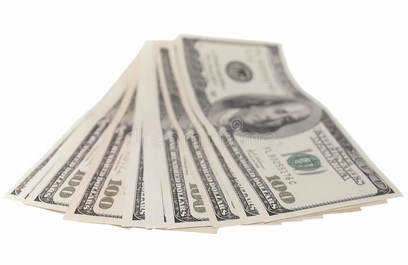 Download Stack Of One Hundred Dollar Bills Isolated Royalty Free Stock Photography - Image: 23730907