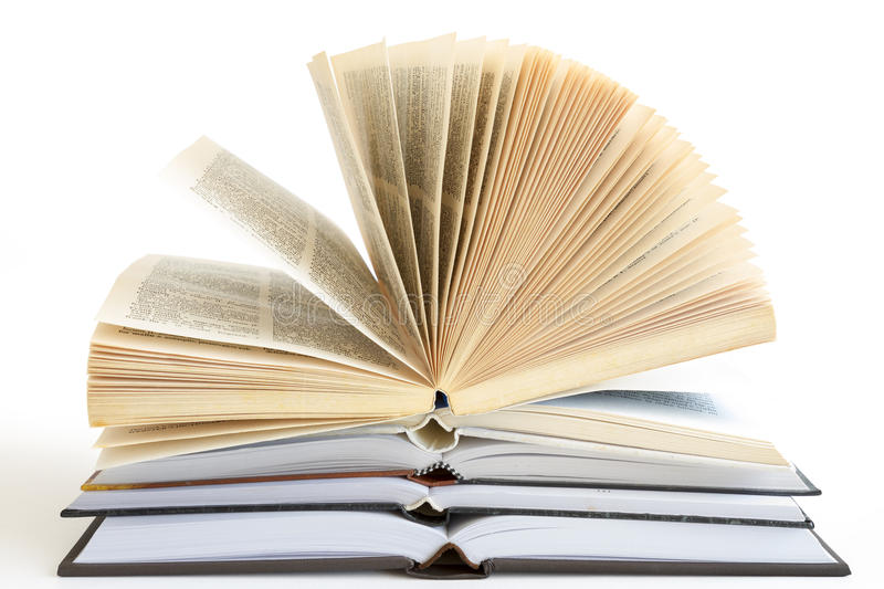 Download Stack Of Open Books Stock Photo - Image: 26838060