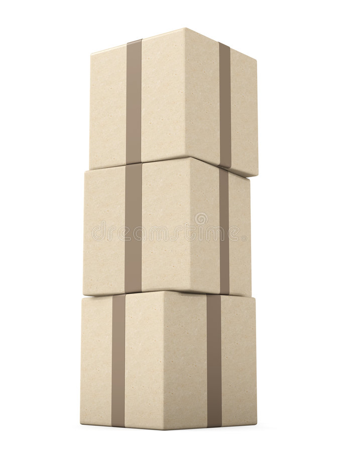 Download Stack of Packages stock illustration. Image of package - 2094880