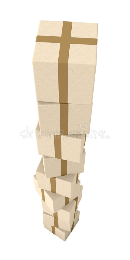 Stack of Packages stock illustration