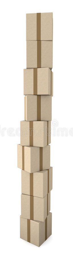 Stack of Packages vector illustration