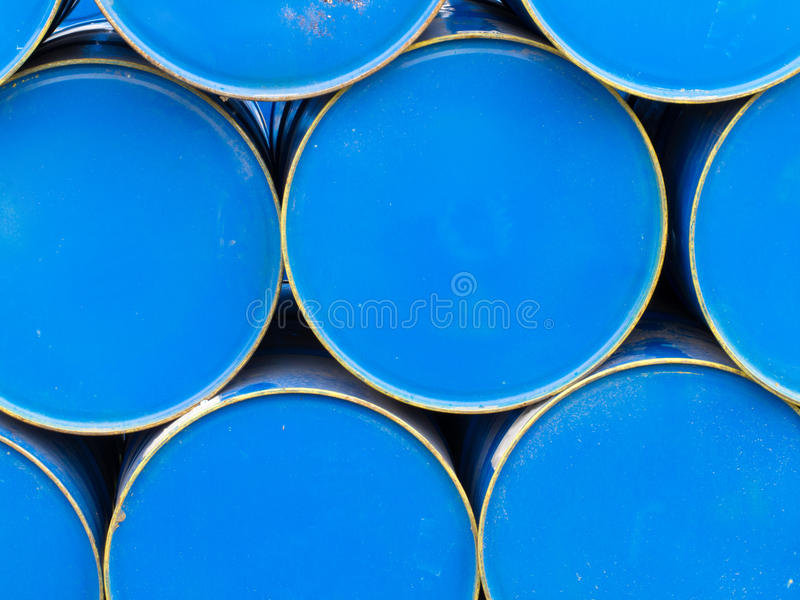 Download Stack Of Painted Blue Oil Barrels Stock Photo - Image: 21720580