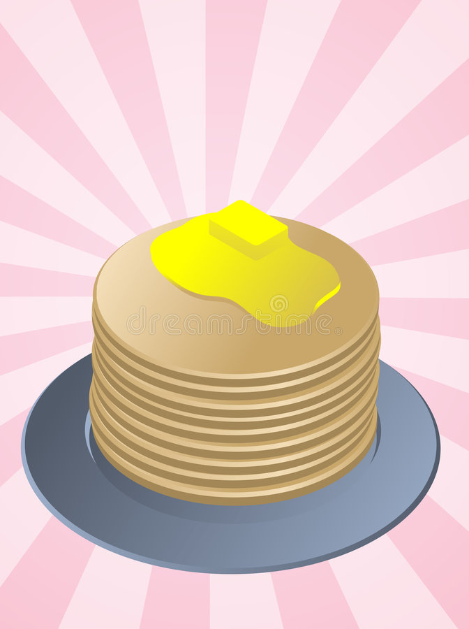 Download Stack of pancakes stock vector. Image of morning, sweet - 7393013