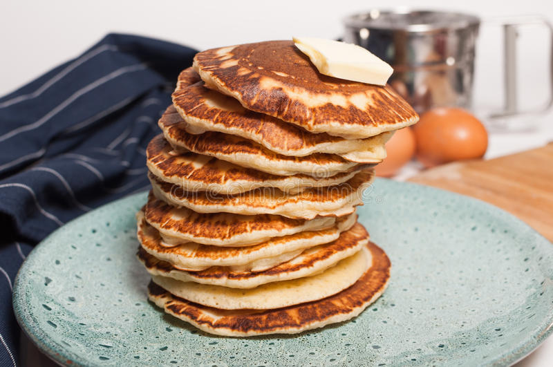 Stack of pancakes stock photography