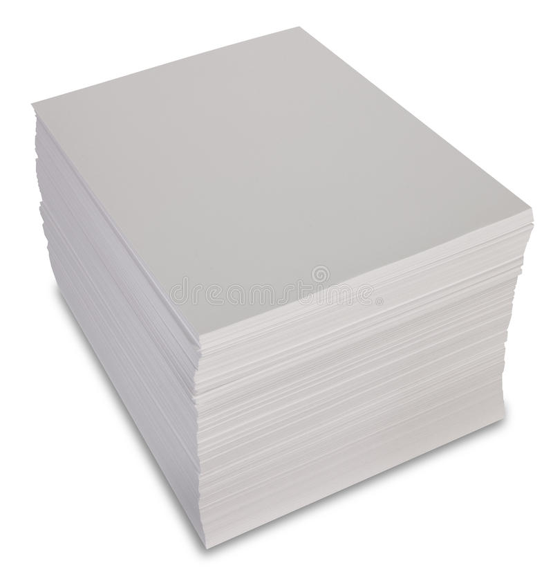 Stack of paper stock photography