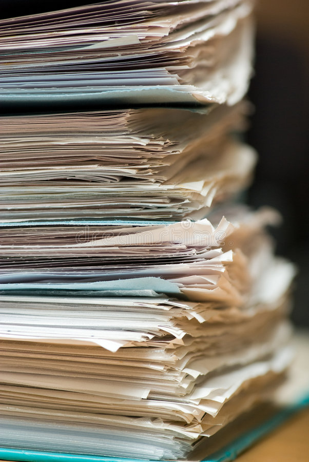Download Stack Paper Stock Image - Image: 5012941