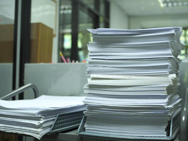 Stack of paper for recycle and reuse royalty free stock photography