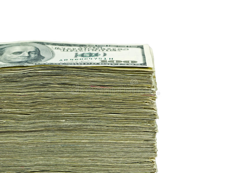 Download Stack of paper US currency stock image. Image of cash - 12675389