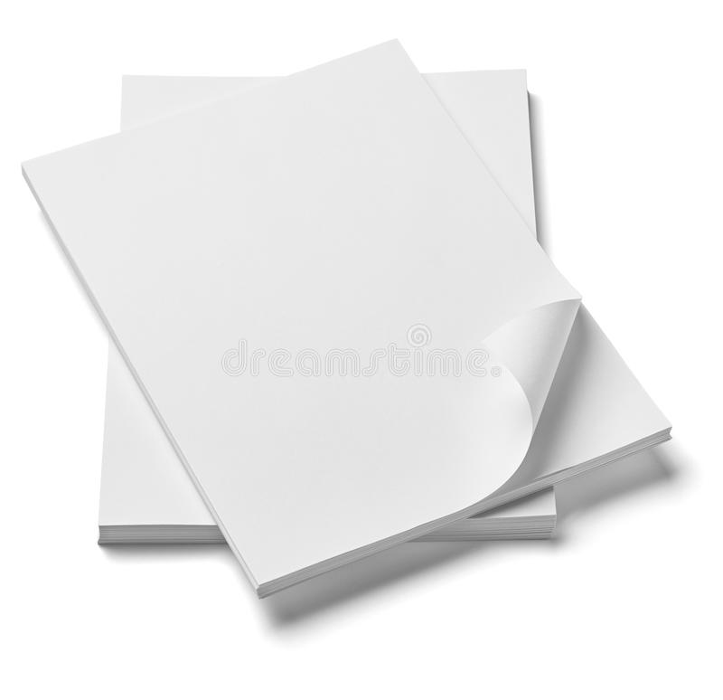 Stack of papers with curl documents office business stock photos