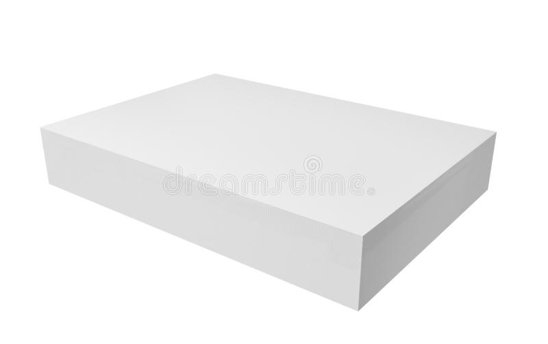 Stack of papers. White blank sheets isolated on white background for business concept. mock up design. 3d abstract illustration stock illustration