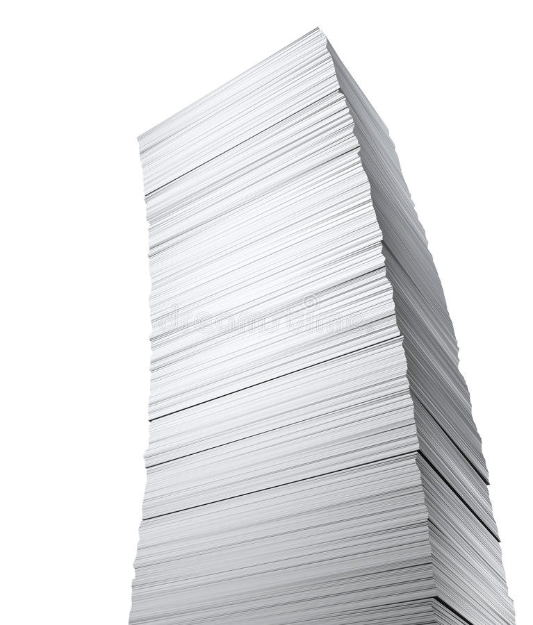 Stack of papers on whole background vector illustration