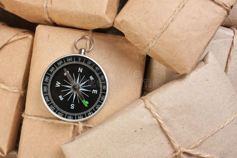 Download Stack parcel  in warehouse stock image. Image of business - 19619101