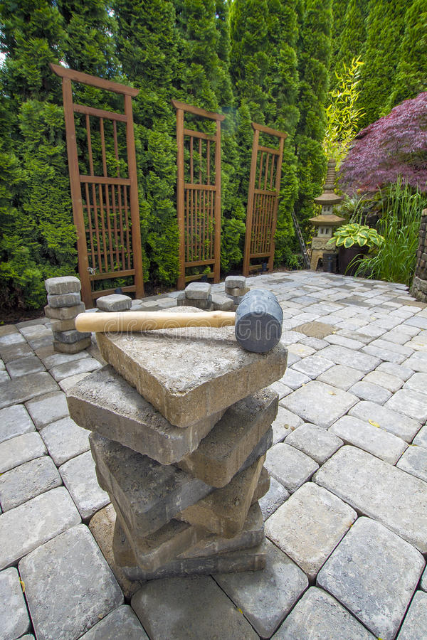 Download Stack Of Pavers On Backyard Garden Patio Stock Photo - Image: 25424968