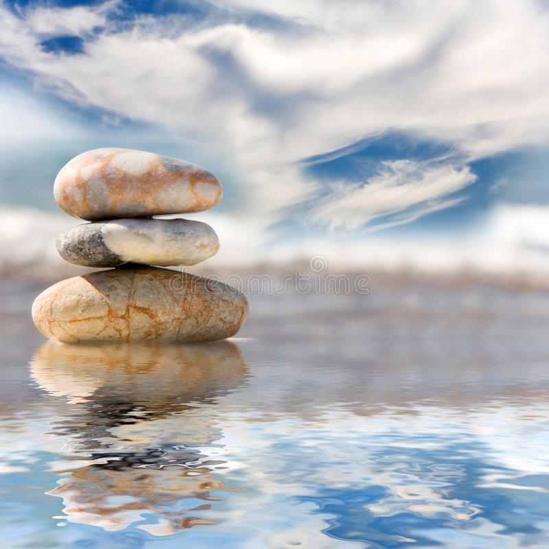 Stack of pebbles royalty free stock image