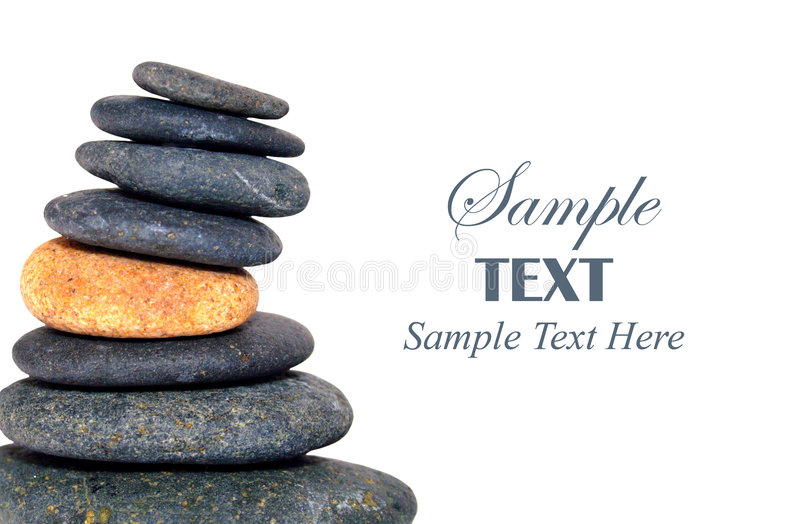 Download Stack Of Pebbles With Copy Space Stock Photo - Image: 7538582