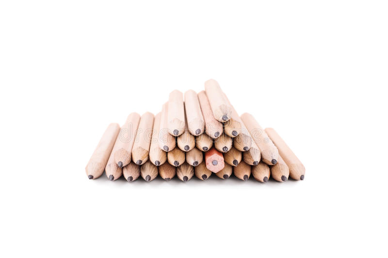 Stack of pencils stock photo