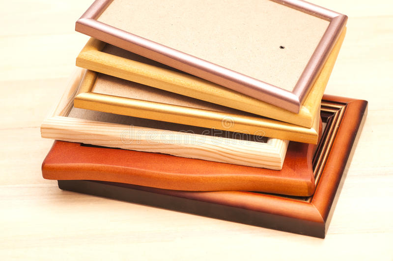 Stack of picture frames royalty free stock image