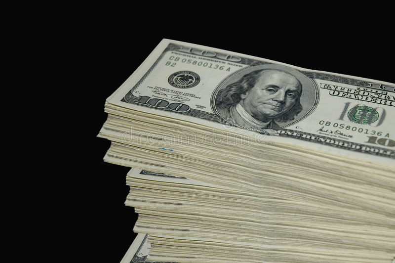 stack pieniężna obrazy royalty free