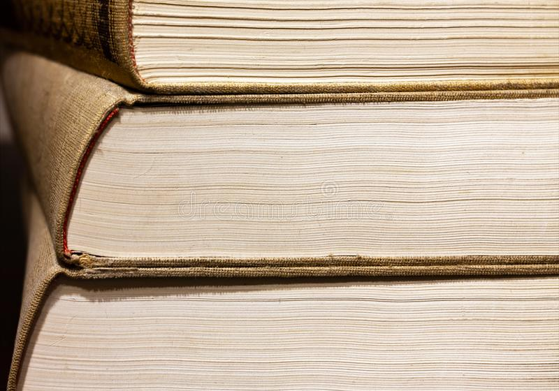 Stacked books close-up royalty free stock photography