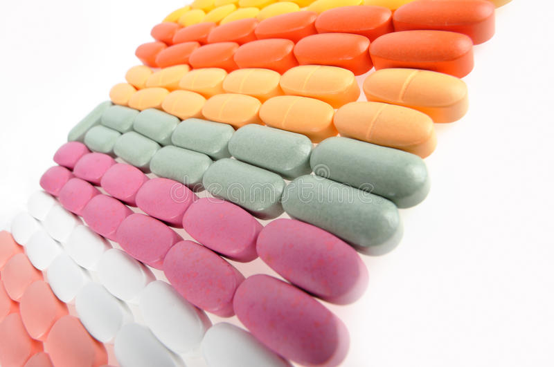 Stack of pills stock images