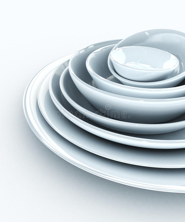 Download Stack Of Plates Royalty Free Stock Photos - Image: 18153068