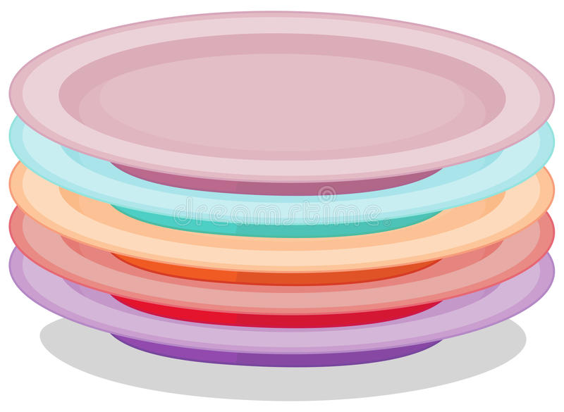 Stack of plates. Illustration of a stack of plates vector illustration