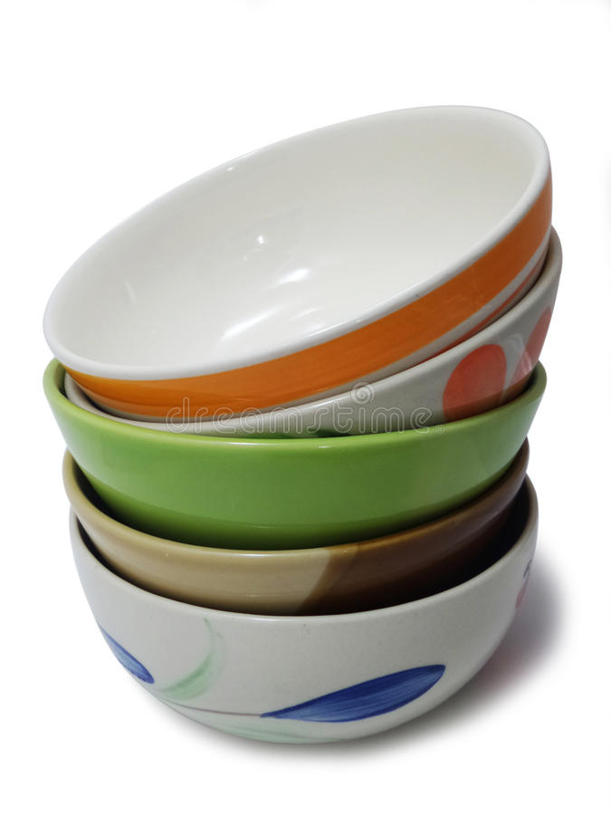 Stack Of Porcelain Bowls Stock Photo