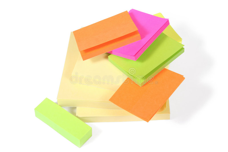 Stack of Post-It Notes royalty free stock image