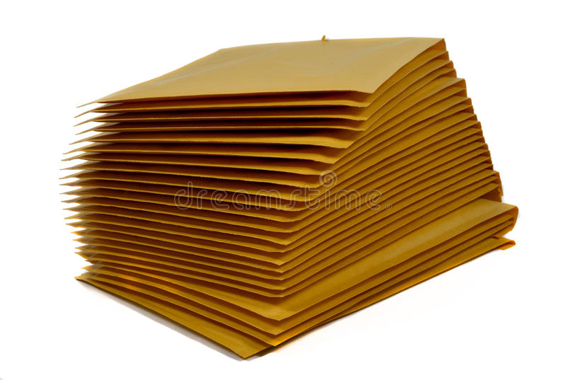 Stack of postal envelope royalty free stock photography