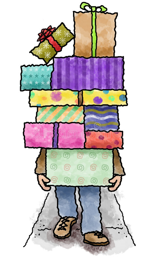 Download Stack of presents stock illustration. Image of cartoon - 3285854