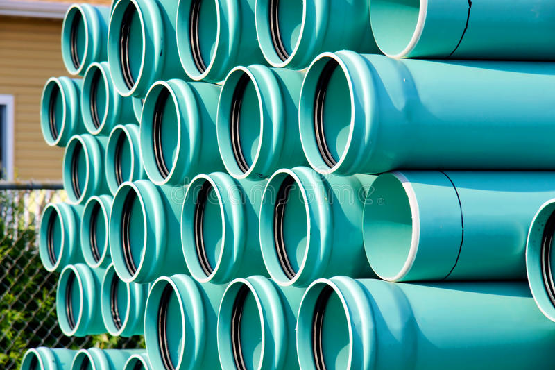 Download Stack of PVC water pipes stock photo. Image of object - 26856876