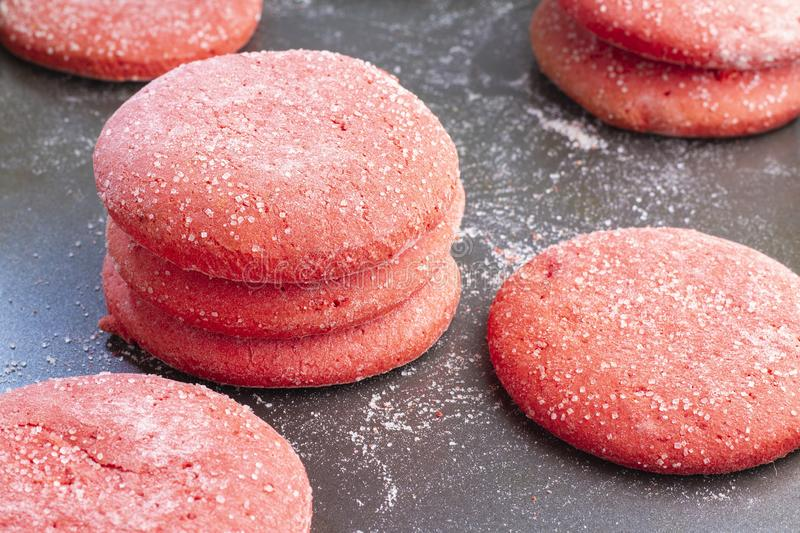 Stack of red cookiestypical food of colombia royalty free stock photography