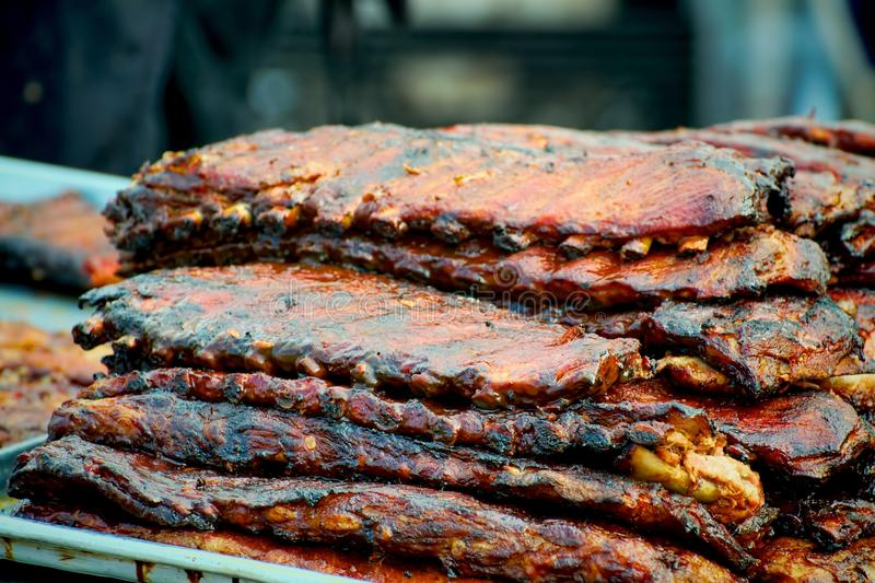 Stack Of Ribs Royalty Free Stock Photography