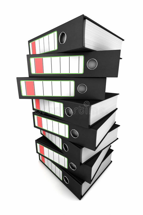 Download Stack of ring binders stock illustration. Image of file - 19677130