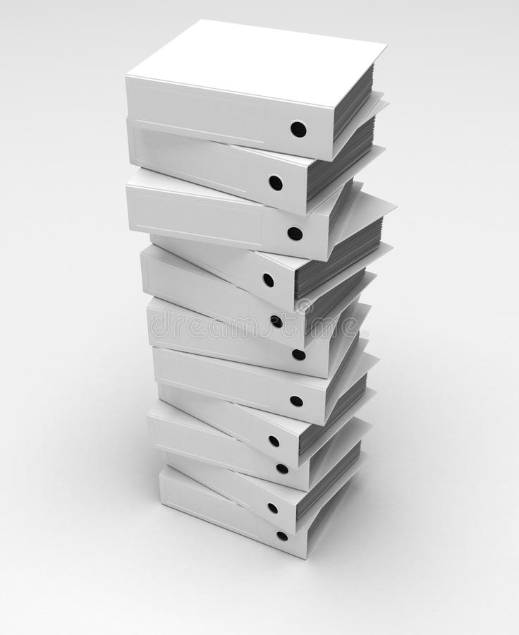 Stack of Ring Binders royalty free stock photography
