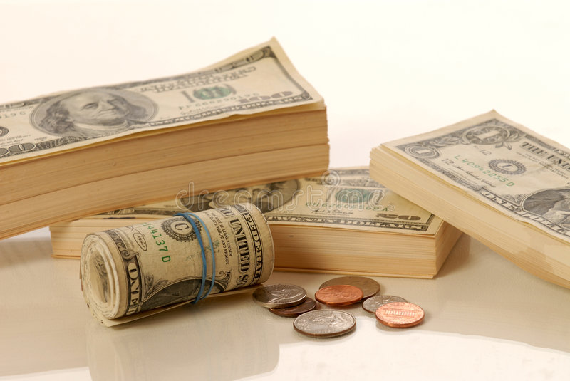 Download Stack And Roll Of Paper Money Stock Images - Image: 5853004
