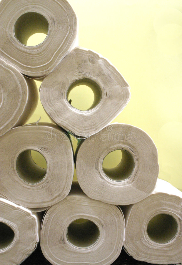 A Stack of rolls royalty free stock photography